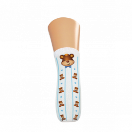 Bears Blue Plain Knit Trans-Tibial  With Hole