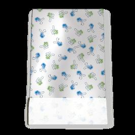 Stretch Fabric, Bunnies Blue-Green