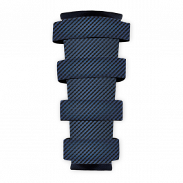 Polyester Fabric (Fire Retardant), Carbon Fibre Blue, 1x1.4m