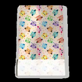 Stretch Fabric, Coloured Owls
