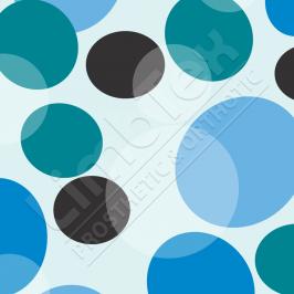 Transfer Paper, Bubbles Blue, 0.8x10m Roll