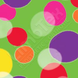 Transfer Paper, Bubbles Green, 0.8x10m Roll