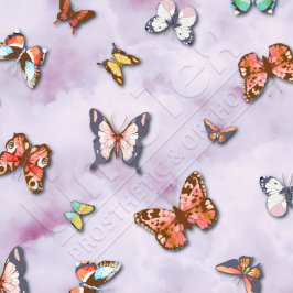 Transfer Paper, Colourful Butterflies Lilac, 0.8x10m Roll
