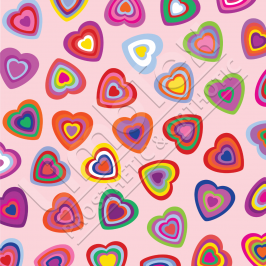 Transfer Paper, Candy Hearts, 0.8x10m Roll